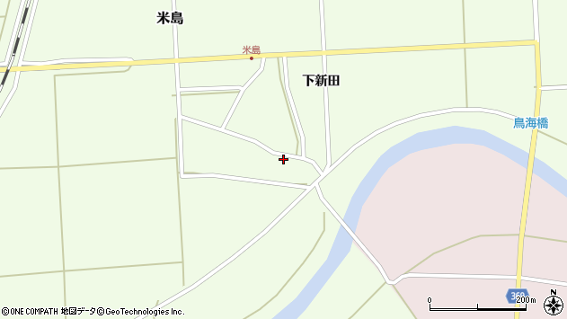 山形県酒田市米島上広面9周辺の地図