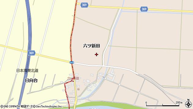 山形県酒田市宮内六ツ新田37周辺の地図