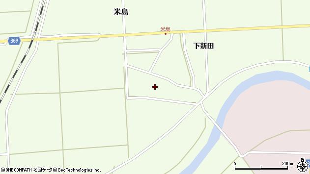 山形県酒田市米島上広面42周辺の地図