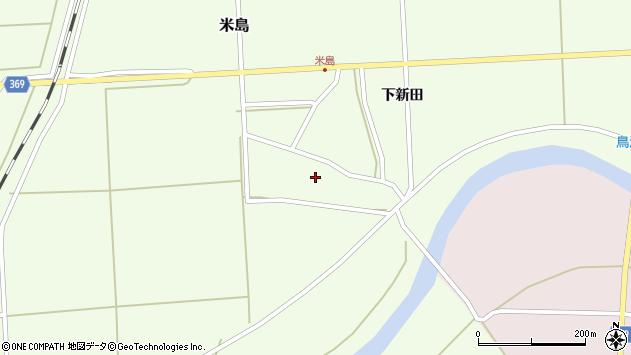 山形県酒田市米島上広面周辺の地図