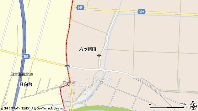 山形県酒田市宮内六ツ新田36周辺の地図