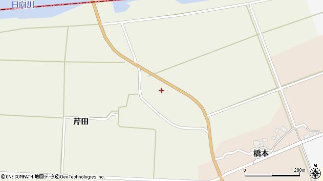 山形県酒田市芹田北田153周辺の地図