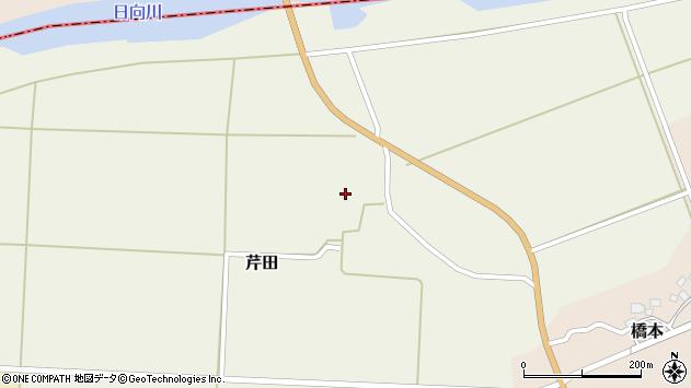 山形県酒田市芹田腰巻14周辺の地図