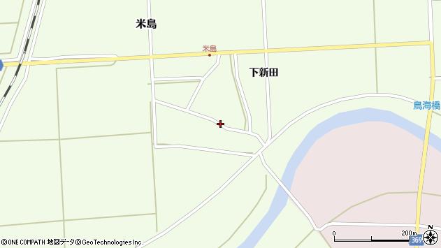 山形県酒田市米島上広面24周辺の地図
