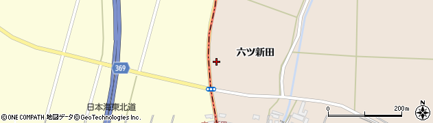 山形県酒田市宮内六ツ新田67周辺の地図