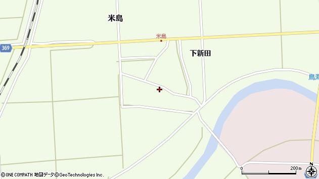 山形県酒田市米島上広面41周辺の地図