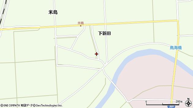 山形県酒田市米島下新田24周辺の地図