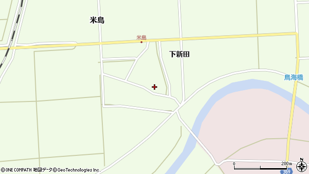 山形県酒田市米島下新田26周辺の地図