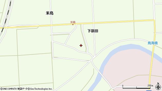 山形県酒田市米島下新田27周辺の地図
