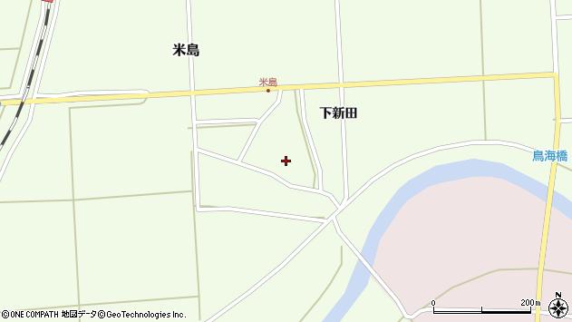 山形県酒田市米島下新田34周辺の地図