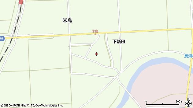 山形県酒田市米島下新田36周辺の地図