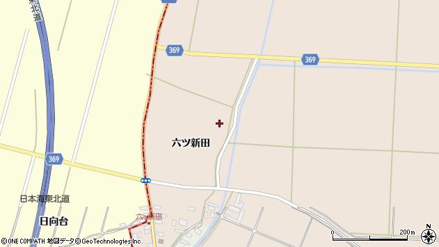 山形県酒田市宮内六ツ新田27周辺の地図