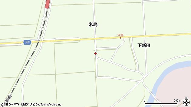山形県酒田市米島福島西43周辺の地図