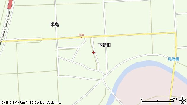 山形県酒田市米島下新田28周辺の地図