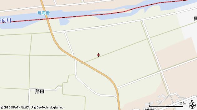 山形県酒田市芹田後川原周辺の地図