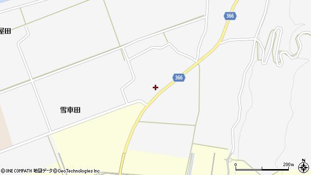 山形県酒田市福山貝ラケ37周辺の地図
