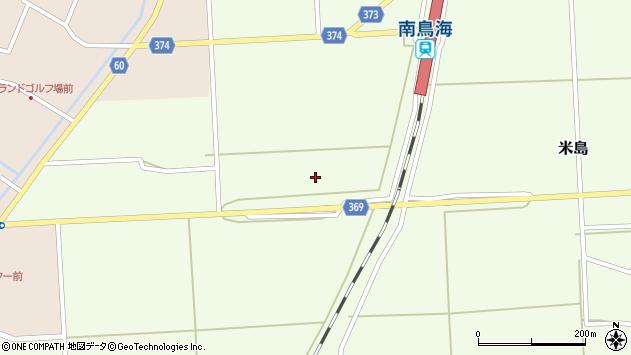 山形県酒田市米島野地田周辺の地図