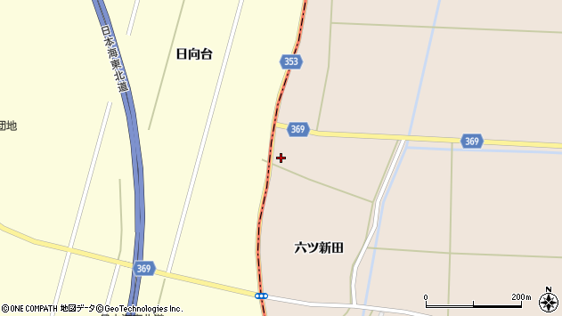 山形県酒田市宮内六ツ新田98周辺の地図