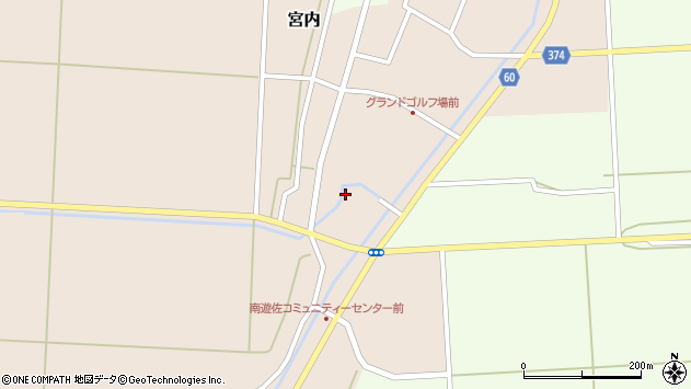 山形県酒田市宮内前田周辺の地図