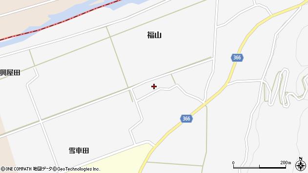 山形県酒田市福山う畑周辺の地図