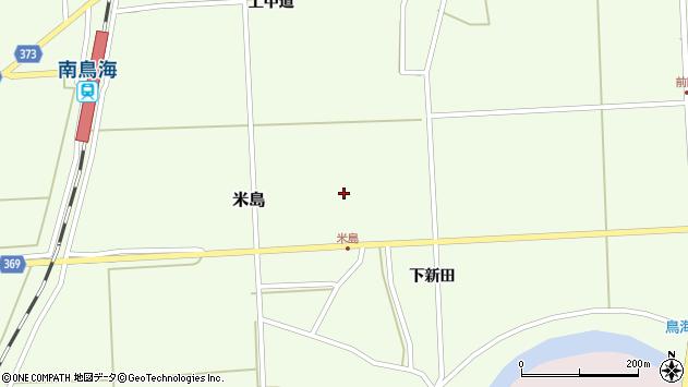 山形県酒田市米島上田中35周辺の地図