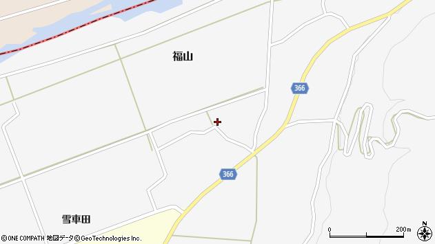 山形県酒田市福山中村西20周辺の地図