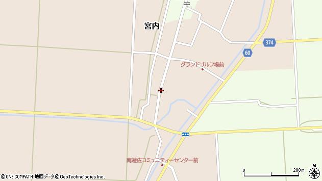 山形県酒田市宮内本楯11周辺の地図