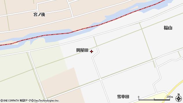 山形県酒田市福山興屋田22周辺の地図