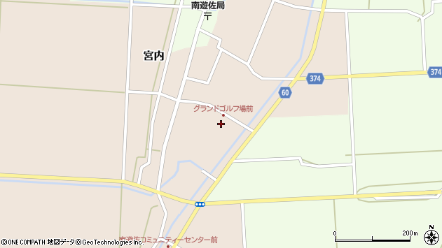 山形県酒田市宮内本楯41周辺の地図