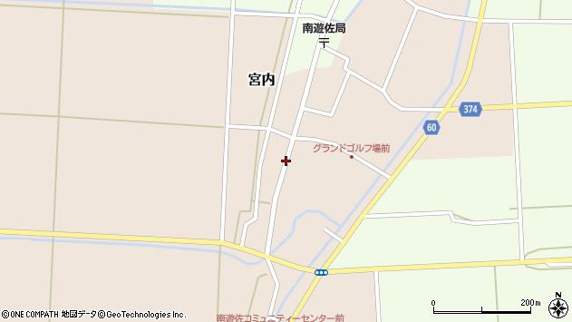 山形県酒田市宮内本楯25周辺の地図