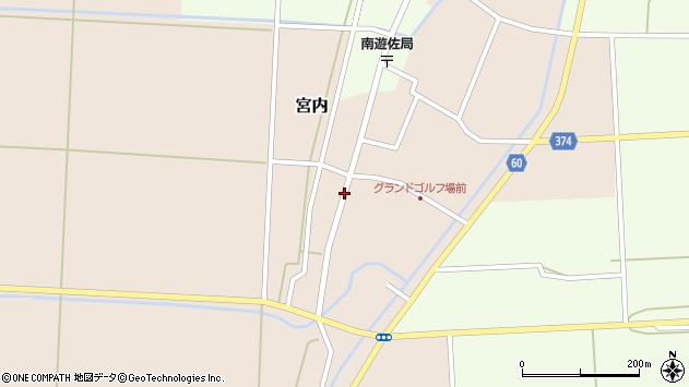 山形県酒田市宮内本楯26周辺の地図