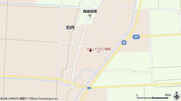 山形県酒田市宮内本楯周辺の地図