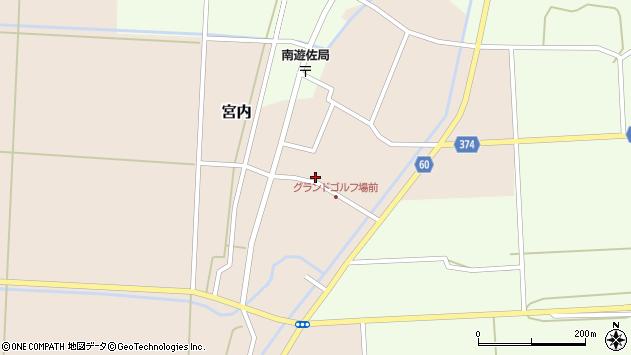 山形県酒田市宮内本楯37周辺の地図