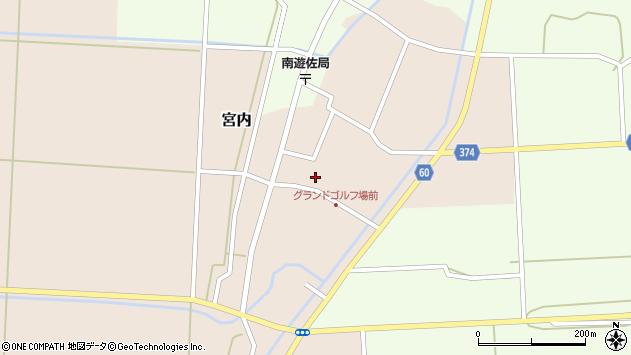 山形県酒田市宮内本楯36周辺の地図