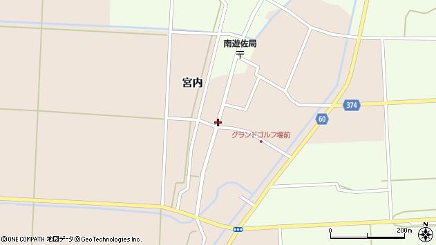 山形県酒田市宮内本楯32周辺の地図