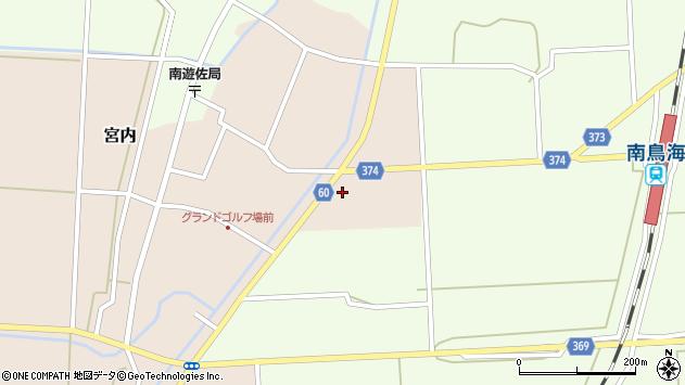 山形県酒田市宮内草田3周辺の地図