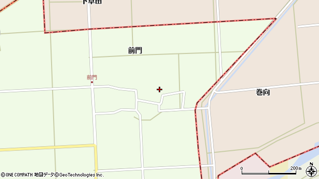 山形県酒田市米島前門周辺の地図