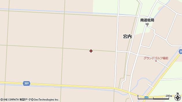 山形県酒田市宮内一本木周辺の地図