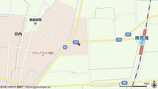 山形県酒田市宮内草田周辺の地図