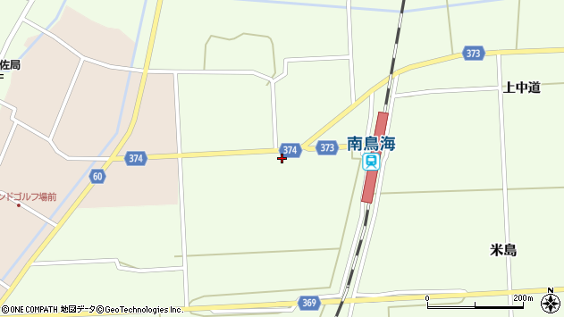 山形県酒田市米島下中道112周辺の地図