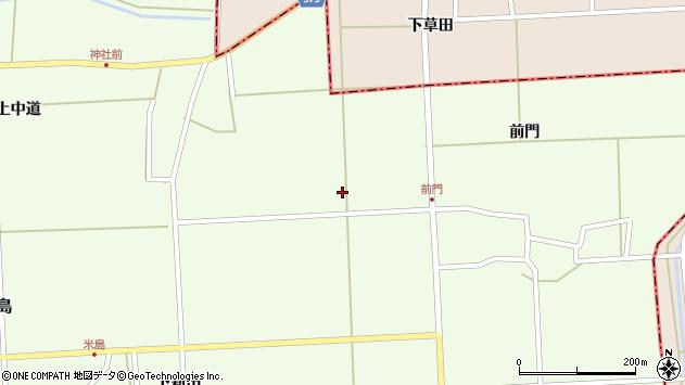山形県酒田市米島米野周辺の地図