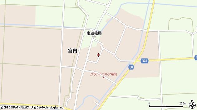 山形県酒田市宮内本楯70周辺の地図