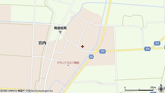 山形県酒田市宮内本楯108周辺の地図