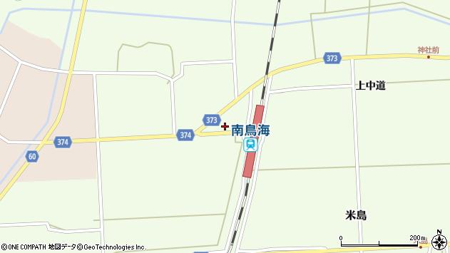 山形県酒田市米島下中道周辺の地図