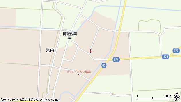 山形県酒田市宮内本楯100周辺の地図