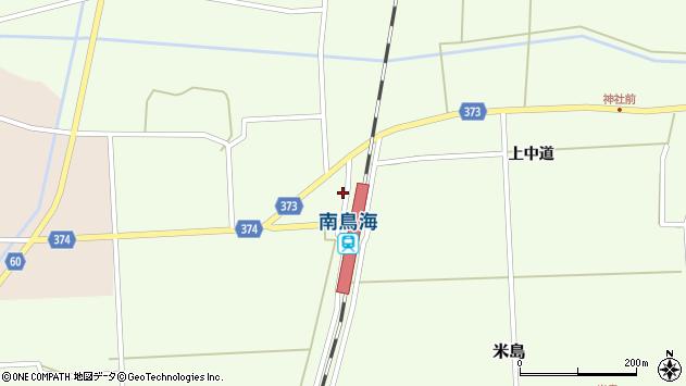 山形県酒田市米島下中道46周辺の地図