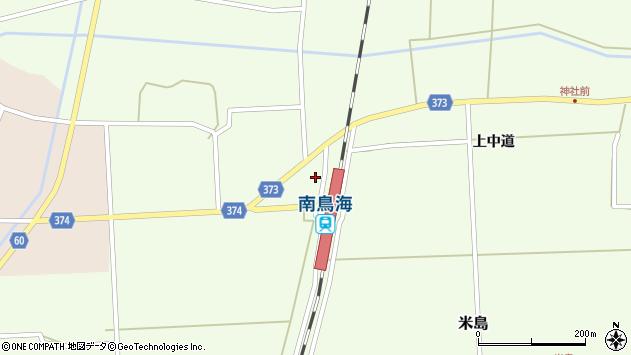 山形県酒田市米島下中道41周辺の地図