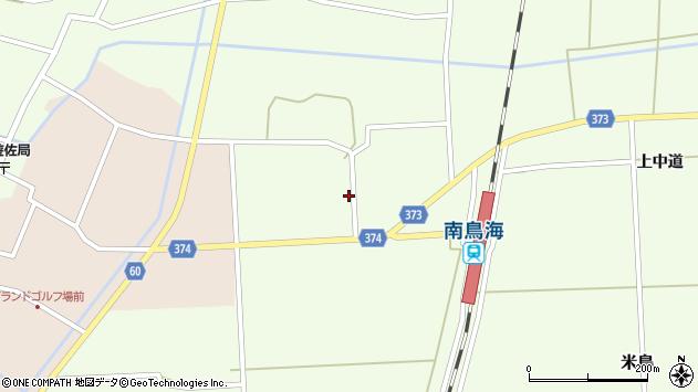 山形県酒田市米島下中道40周辺の地図