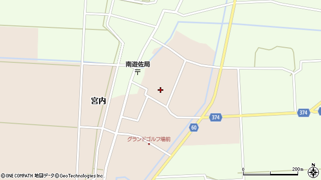 山形県酒田市宮内本楯86周辺の地図