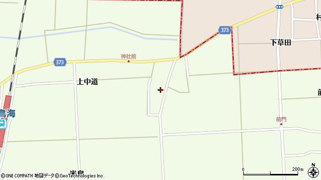 山形県酒田市米島上中道12周辺の地図